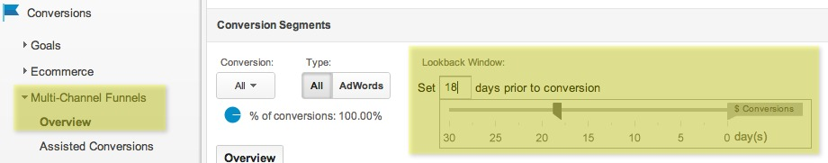 Lookback Window - Multi-Channel Funnels