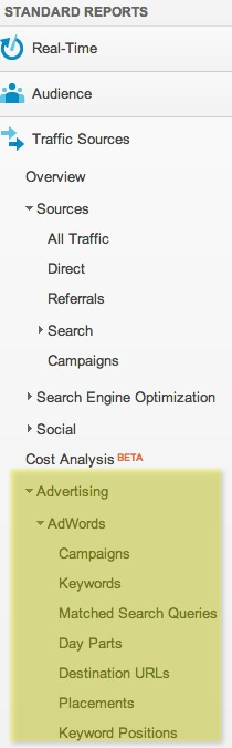 New Adwords Reports Location