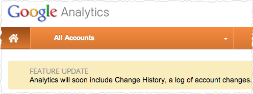 Change History in Google Analytics