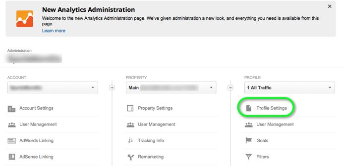 Google Analytics Profiles