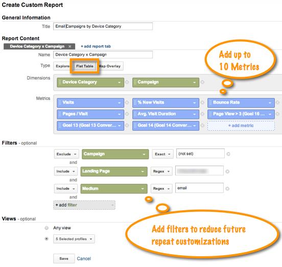 Flat Table Custom Report Configuration