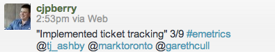 """""""Implemented ticket tracking"""" 3/9"""