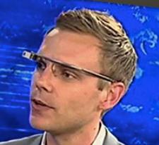 Man wearing Google Glasses