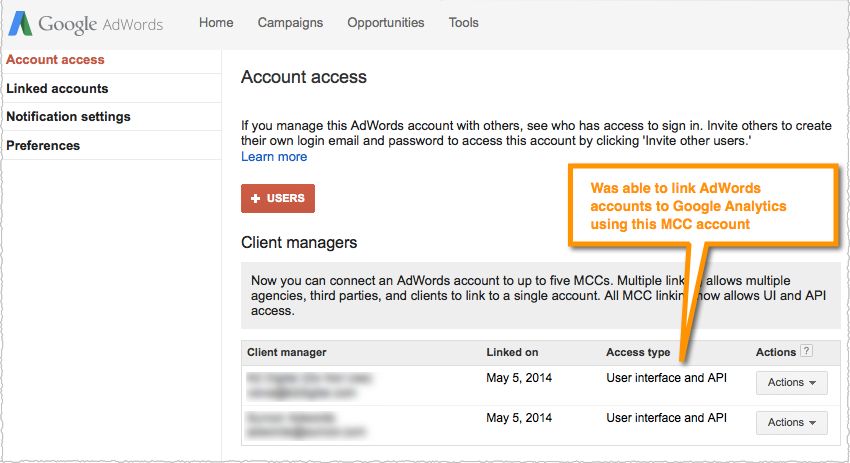 how to create new adwords account under mcc