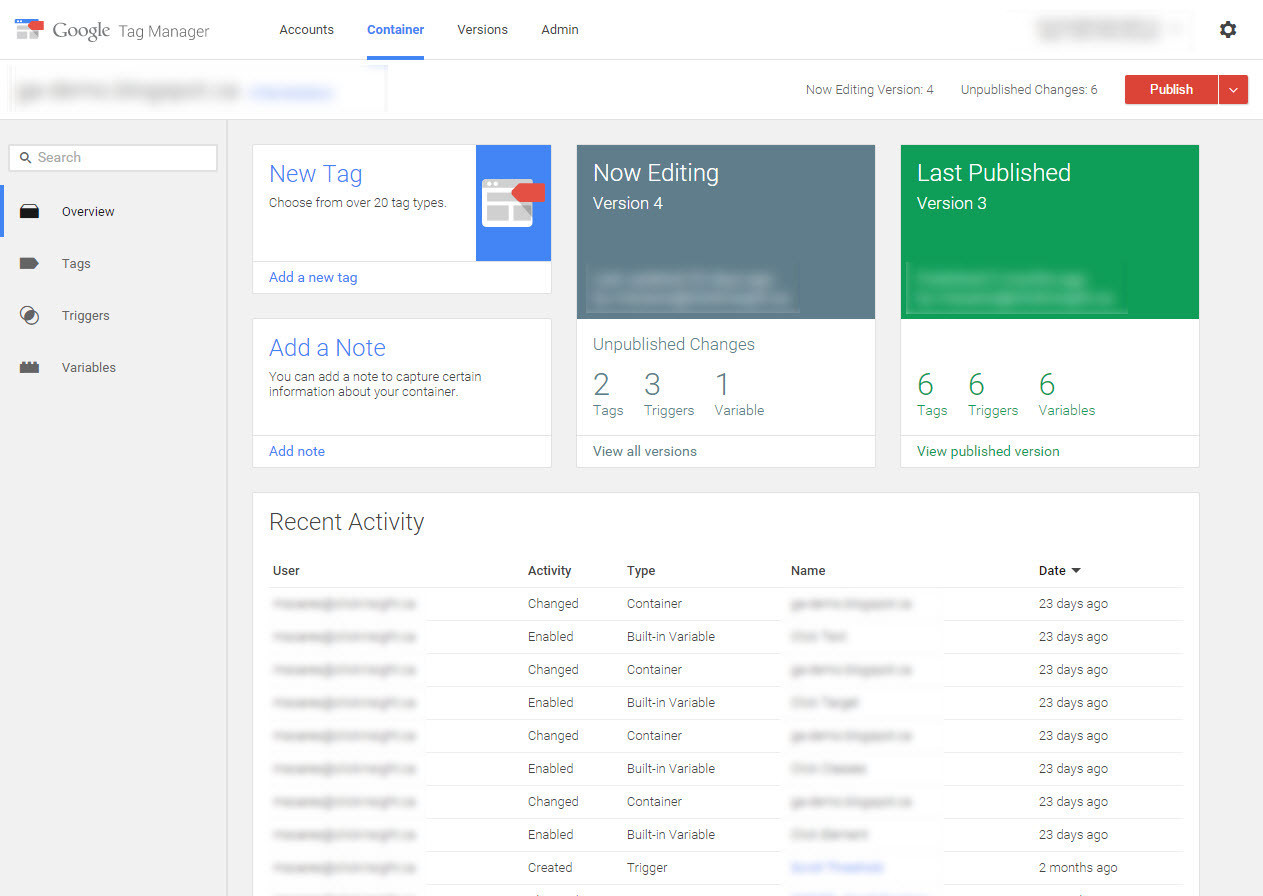 New Google Tag Manager V2 Interface