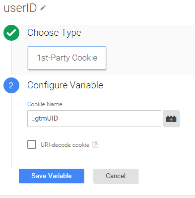 User-id Cookie GTM Configuration