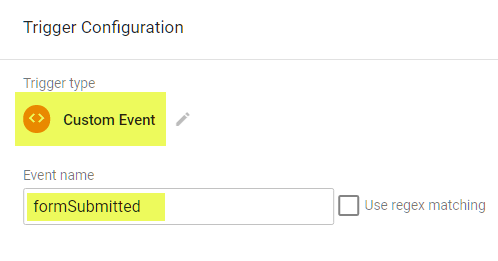 Create custom event form trigger in GTM