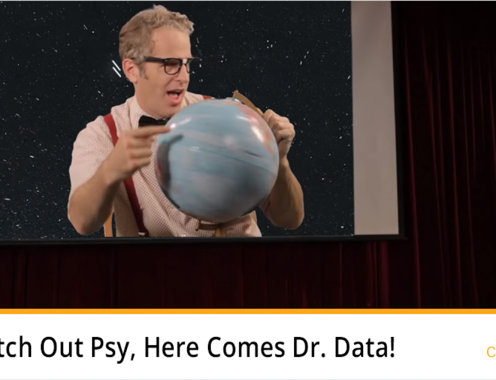Watch Out Psy, Here Comes Dr. Data!