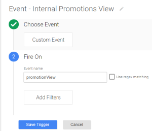 Internal promotions views trigger