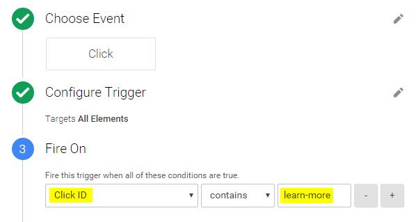 Create a Click Trigger