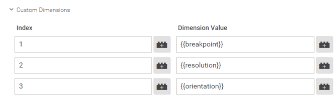 Configure Breakpoint Custom Dimensions