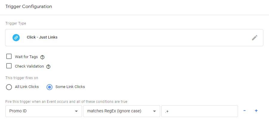 Click - Promo Click - ID found trigger