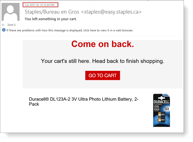 Cart Abandonment Remarketing Email