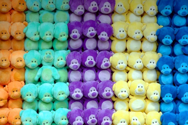 Groups of Coloured Bears